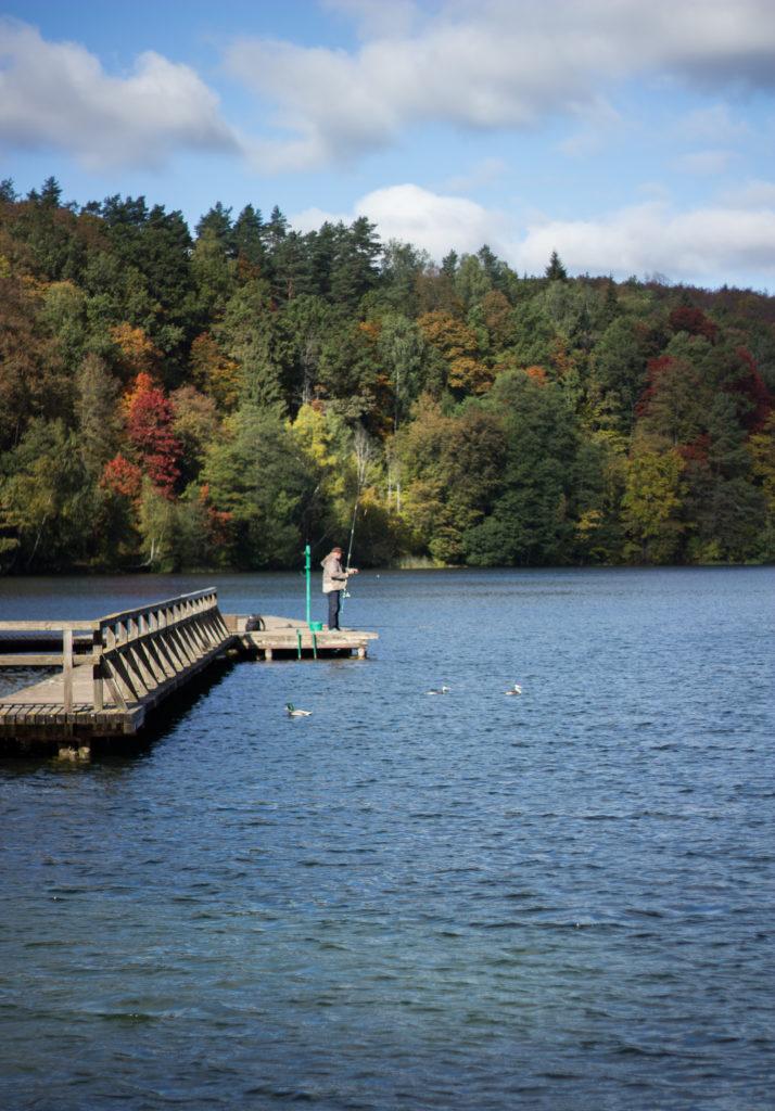 Fishing in Green Lake Vilnius