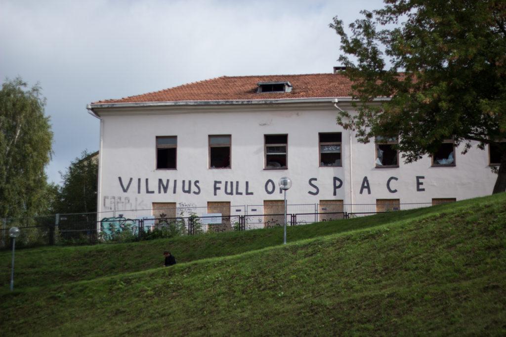 old empty houses in vilnius