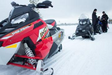 Snowmobile Tour Through Finnish Lapland