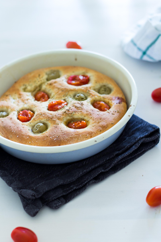 (Recipe) Tomato-Olive Focaccia